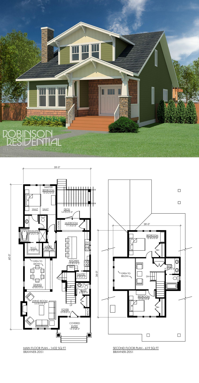 Craftsman brawner in new build pinterest house plans
