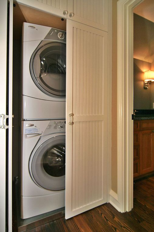 Superieur Across The Hall From The 2nd Bathroom Is The Laundry Closet, Made Possible  With Stacking Washer And Dryer.