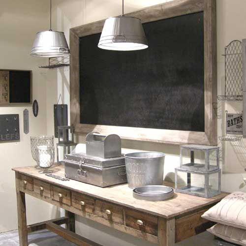 tableau rectangulaire grand format en bois peint ardoise athezza soldes decoclico decoclico. Black Bedroom Furniture Sets. Home Design Ideas