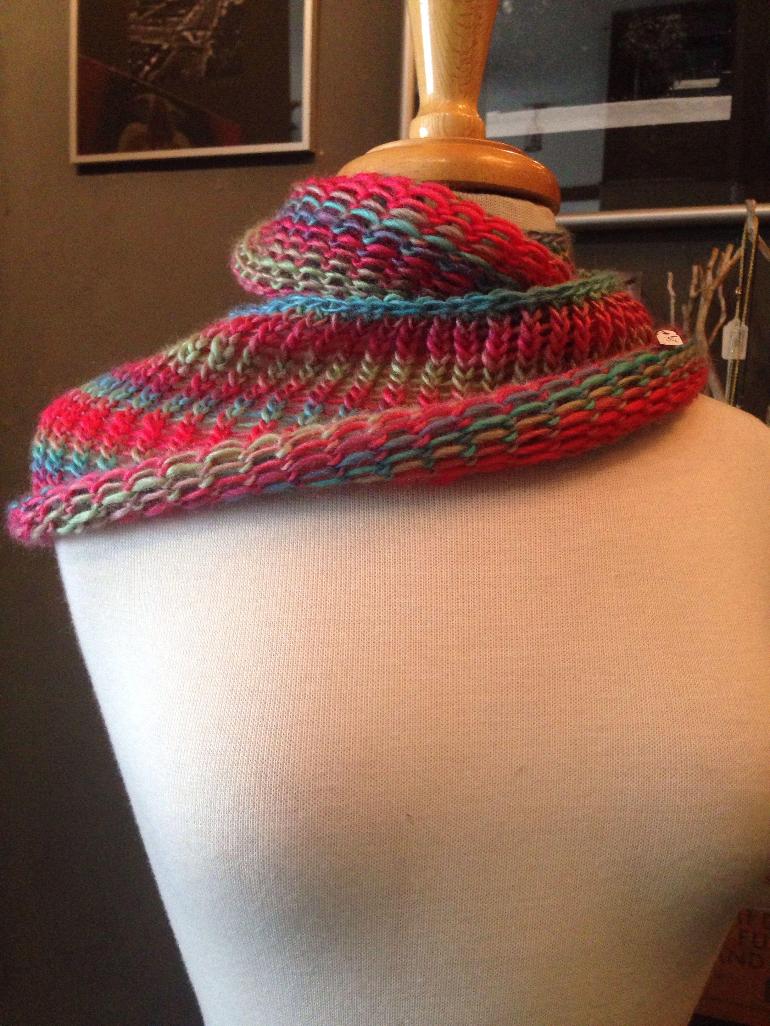 Lose knit infinity scarf made on Martha Stewart loom. | Martha ...