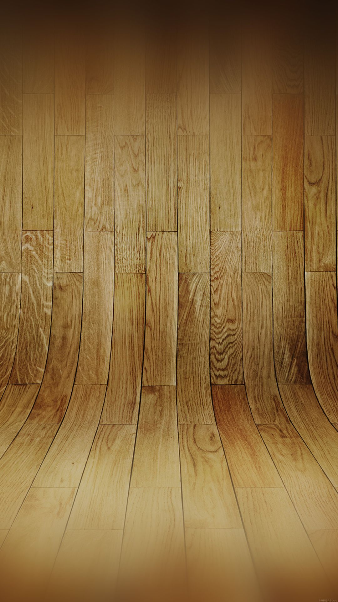Curved 3D Wood Planks Texture iPhone 6 wallpaper Android