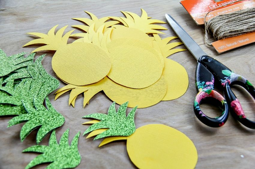 Pineapple Crafts Diy Summer Garland That S Festive And Sweet Pineapple Crafts Diy Summer Crafts Crafts