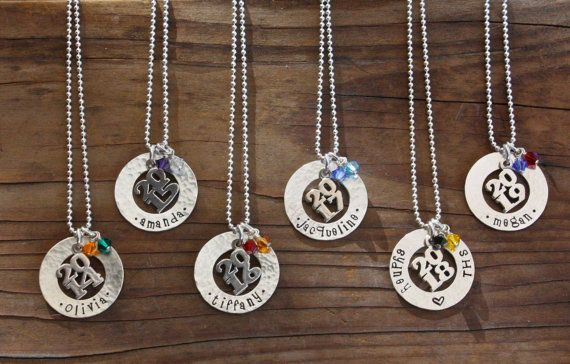 Graduation Necklace Class Of 2019 Personalized Washer