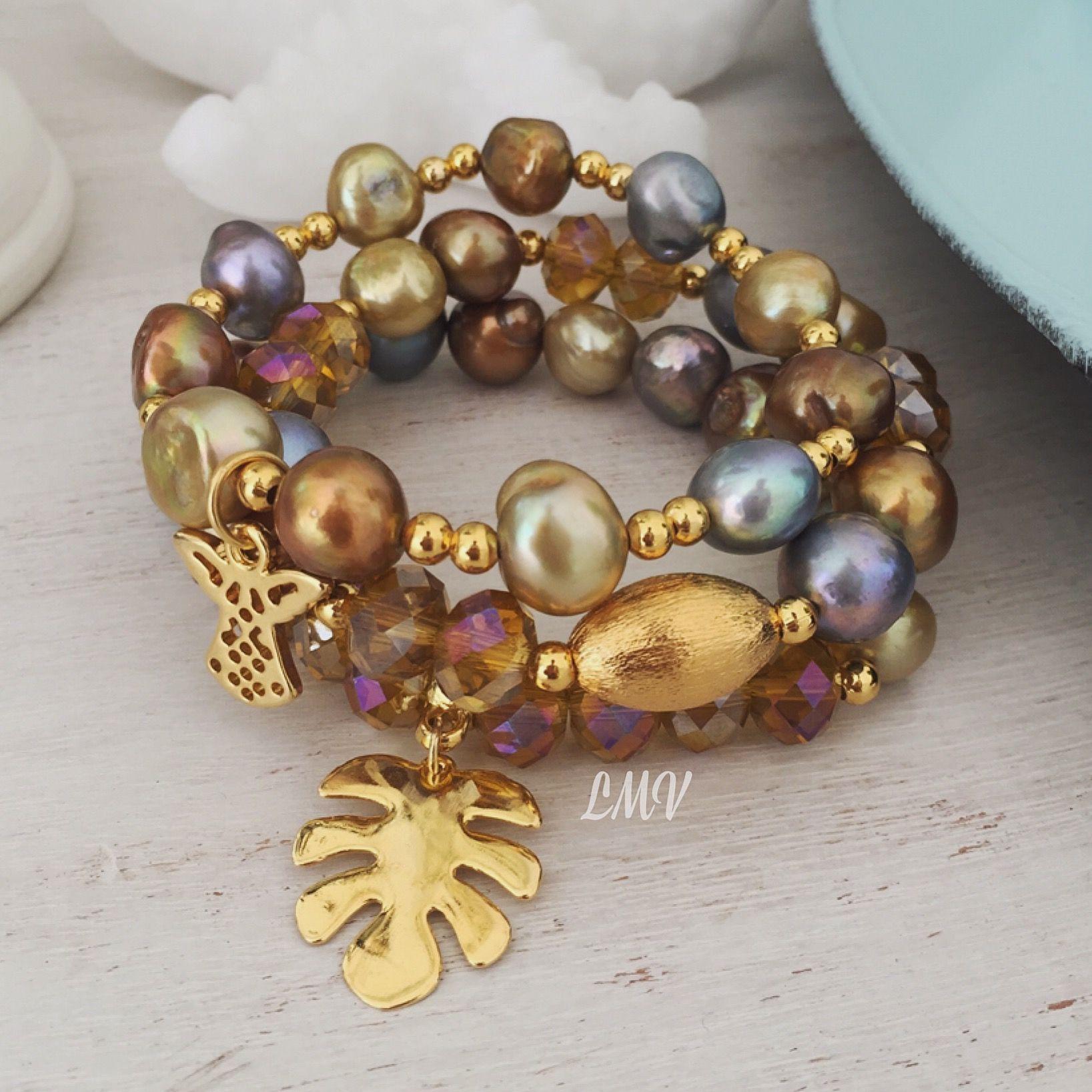 Pulseras de perlas cultivadas by Luz Marina Valero