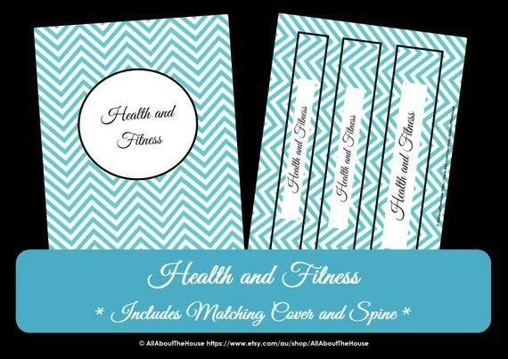 LIGHT BLUE Health and Fitness Printables - Workout Printables Meal Planner Home Organisation Househo...