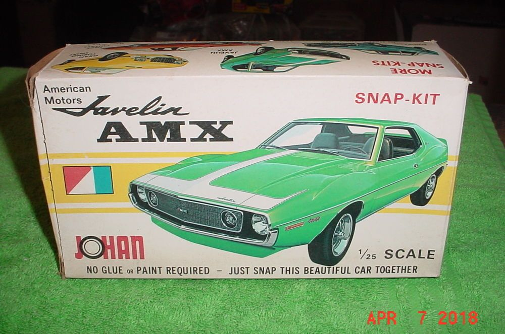 Johan 1973 Amc Javelin Amx 1 25 Kit Cs 504 Johan Plastic Model Kits Amc Javelin Plastic Model Kits Cars