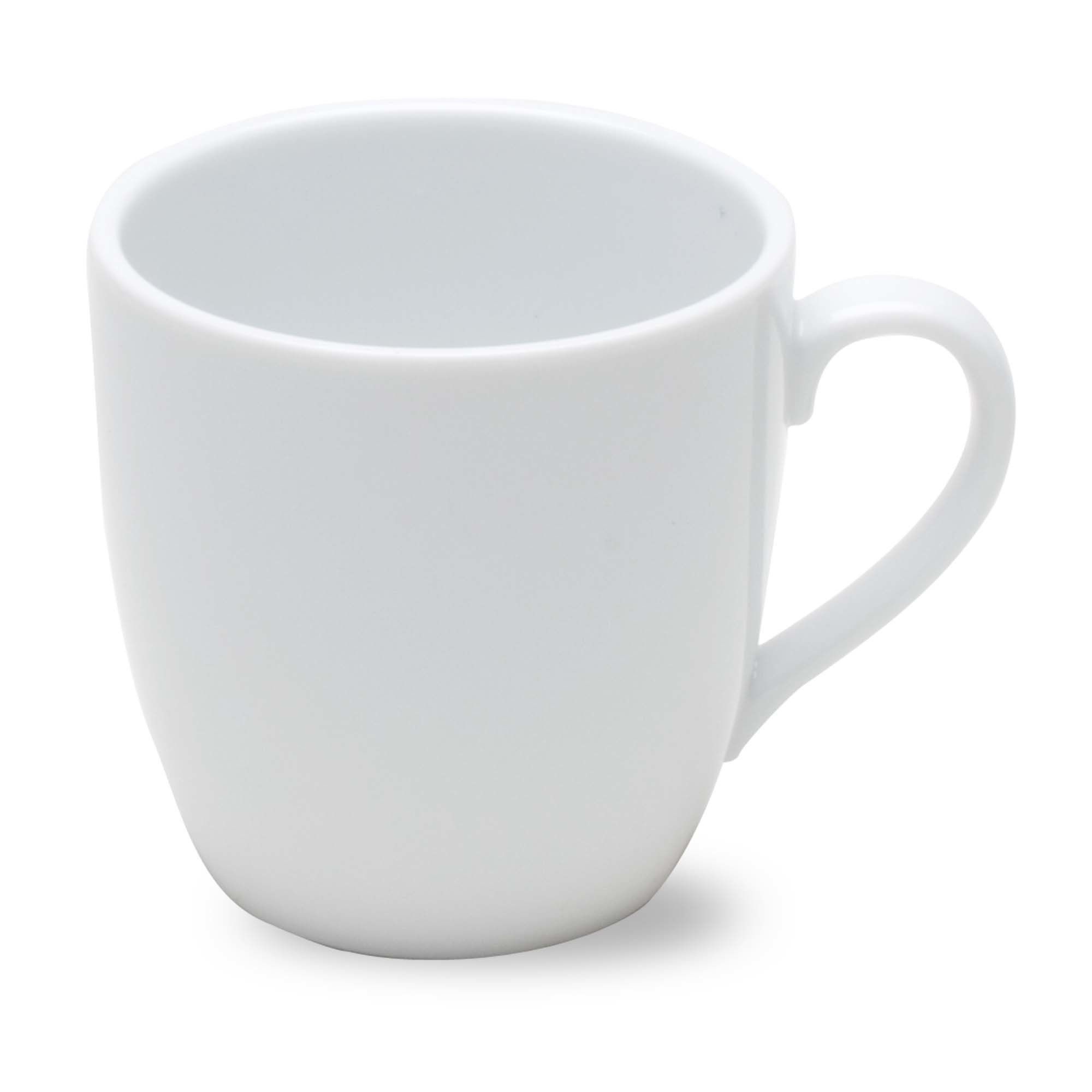 Whiteware Curved Cappuccino Mug