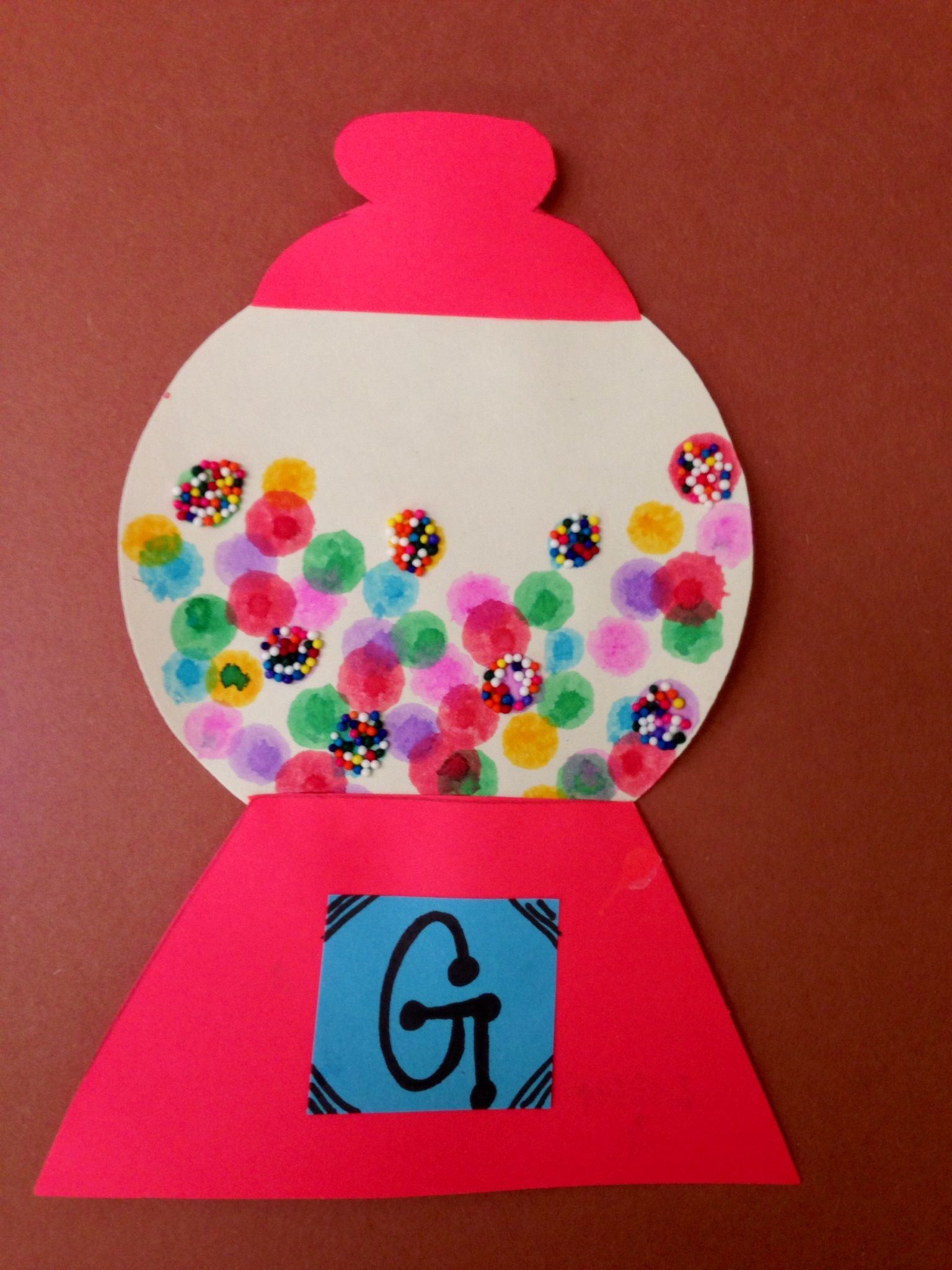 Letter Of The Week G Gumball Machine