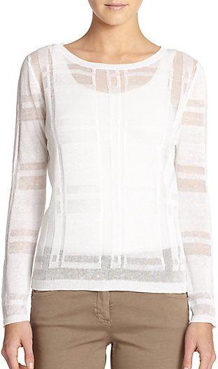 Linen & Cotton Burnout Sweater