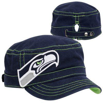 New Era Seattle Seahawks Chic Cadet Women s Military Hat  633ba92d75