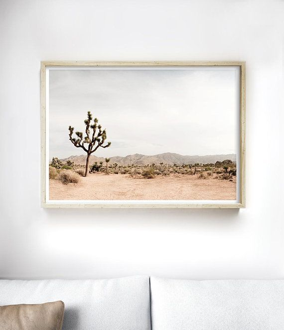 Desert Inspired Accent Wall: Joshua Tree Desert Print, California Wall Art