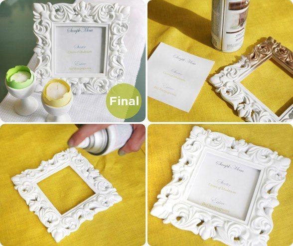 id e de pr sentation de menu rectangle pour mariage couleur blanc menu dans cadre photo. Black Bedroom Furniture Sets. Home Design Ideas