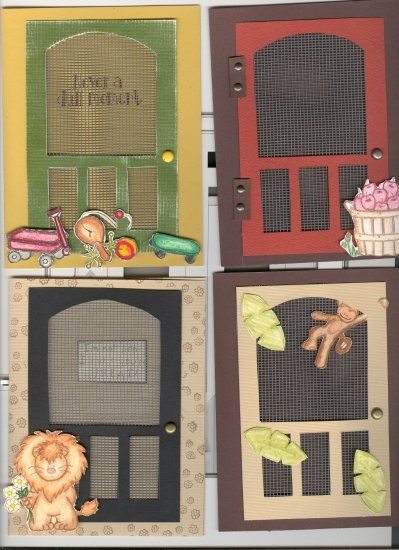 Screen Door Greeting Card \ Template Kit Cards- screen door - greeting card template