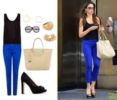 Combinacion Con Pantalon Azul Pantalon Azul Combinacion Pantalones Azul Electrico Outfit Con Pantalon Azul
