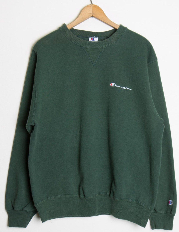 Champion Green Crewneck In 2021 Green Sweatshirt Outfit Crewneck Outfit Sweatshirt Outfit [ 1554 x 1200 Pixel ]