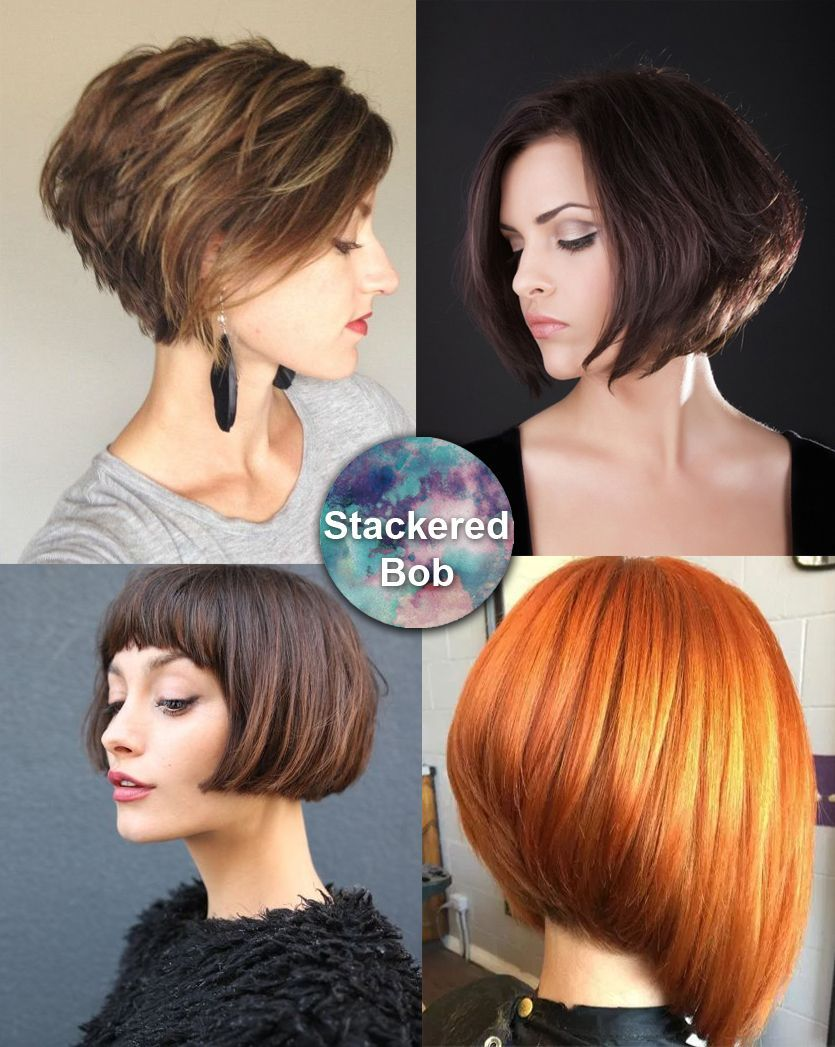 Stacked bob great for thick hair short hairstyles pinterest