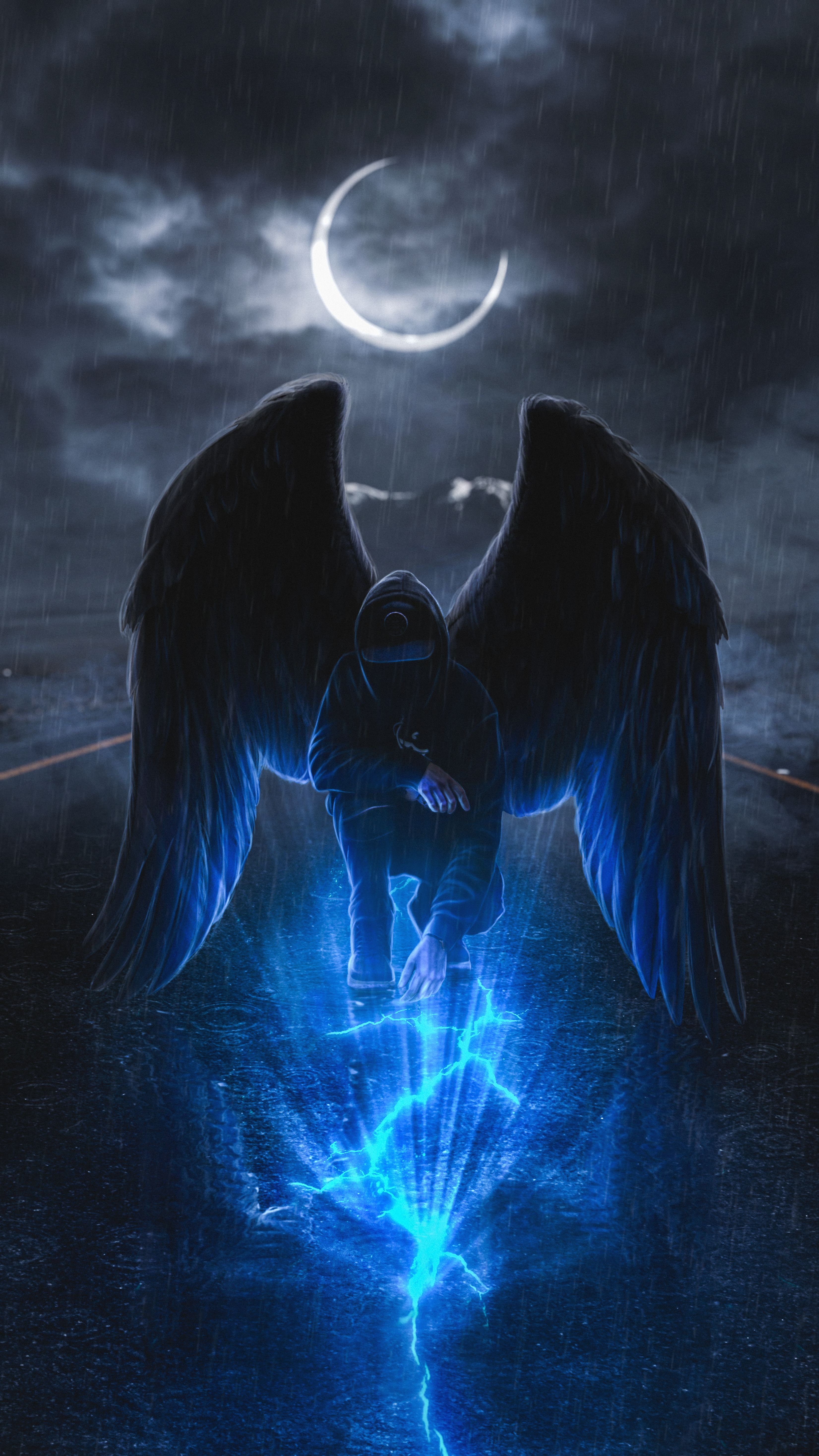 Mystic Angel Android Ios Wallpaper Angel Wallpaper Dark Fantasy Art Angel Artwork Angel hd wallpaper download