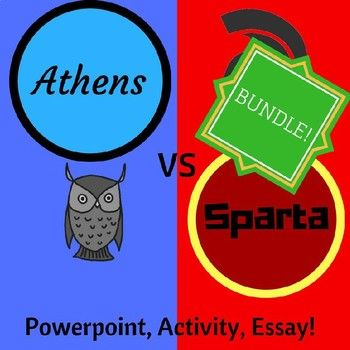 Athens and sparta powerpoint activity essay bundle tpt lesson bundle includes the following athens and sparta powerpoint outlining their differences venn diagram ccuart Gallery