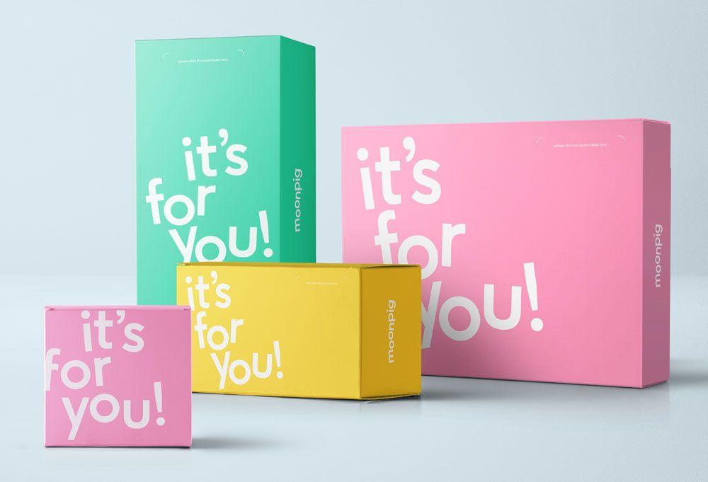 New Moonpig Logo And Identity Logo Design Love Typography Packaging Kids Branding Design Creative Packaging Design