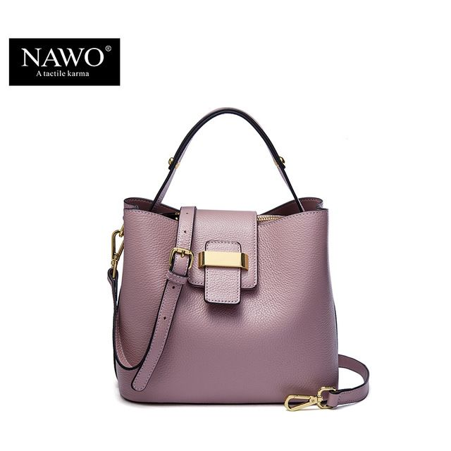 NAWO 2016 Designer Women Leather Handbags Bucket Shoulder Bags ...