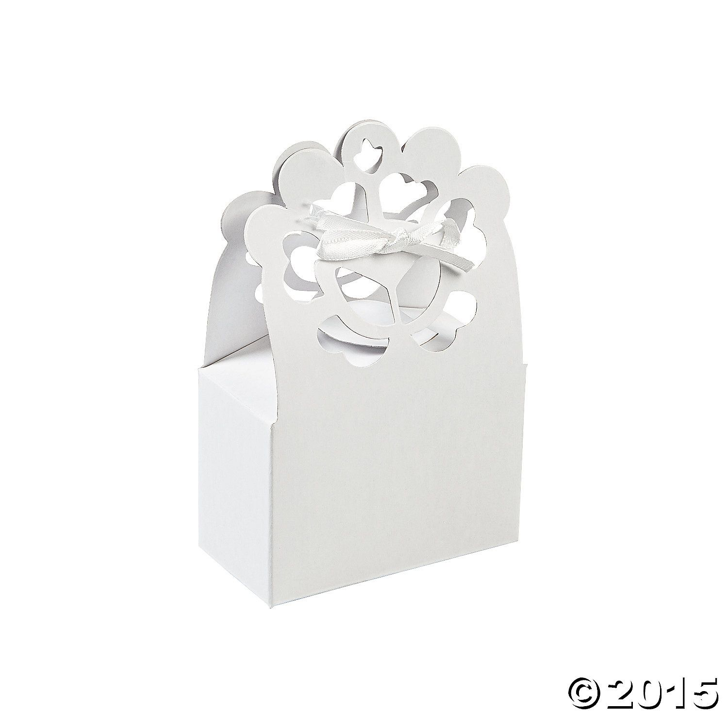 White Lace Favour Boxes - 24 Pk Party Supplies Canada - Open A Party ...