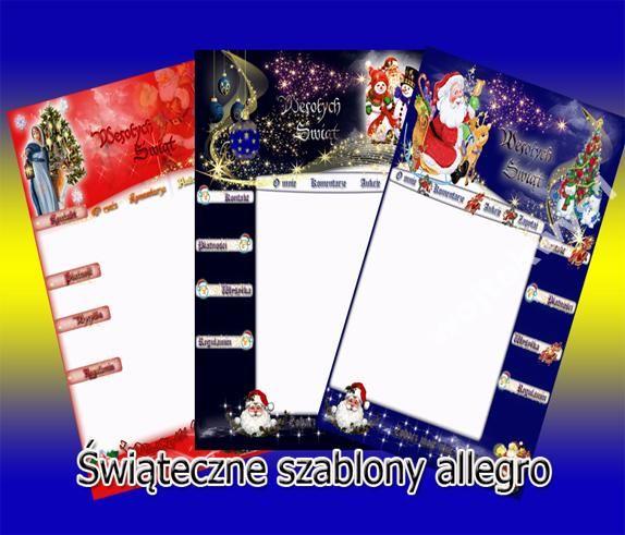 Nowe Szablony Swiateczne Allegro Faktura Vat 23 Allegro