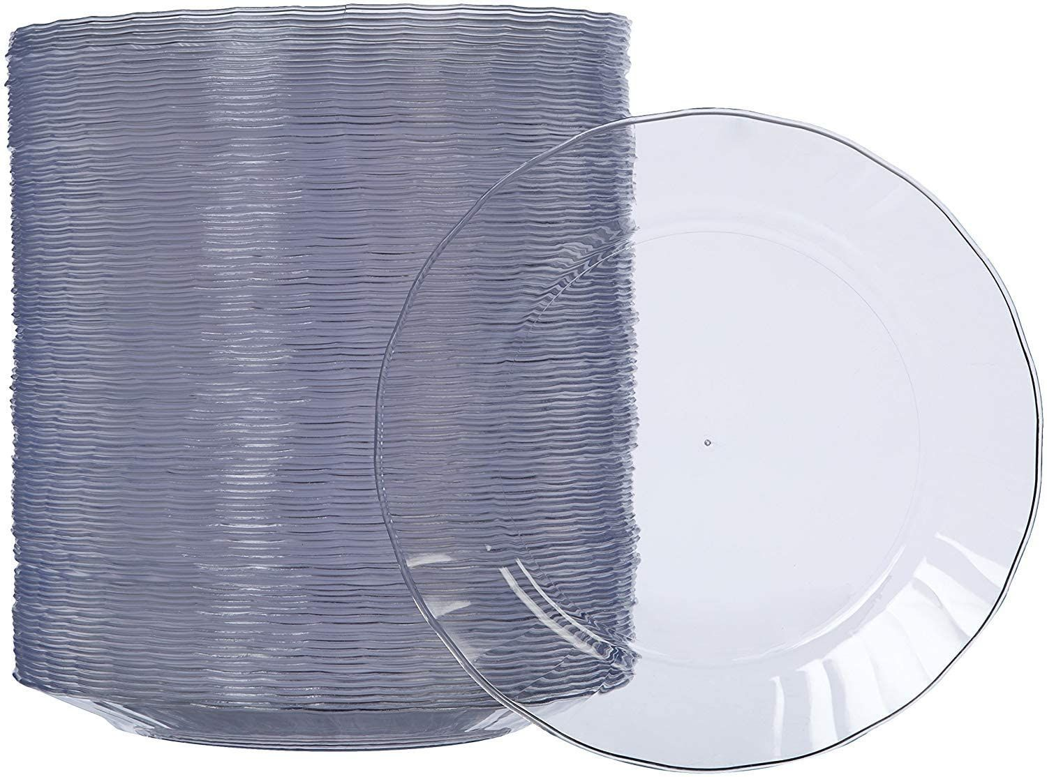 Disposable Clear Plastic Plates 100 Pack 7 5 Inch In 2020 Clear Plastic Plates Disposable Plastic Plates Disposable Plates