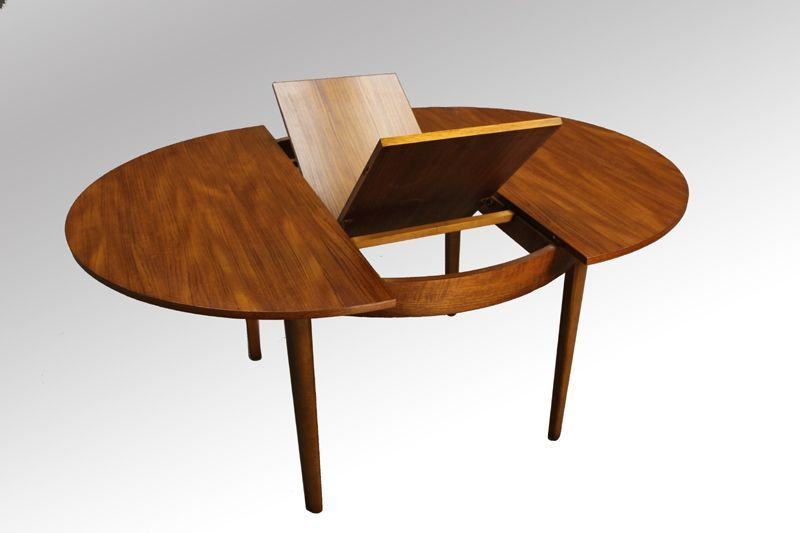 Danish Modern Teak Round Dining Table Extendable This Is The Furniture My Mum And Dad Had Round Extendable Dining Table Retro Dining Table Round Dining Table
