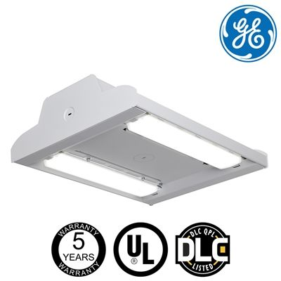 Ge Albeo Series Abv2 12100 Lumens 120 277v 1 Module Very High Output 5700k 120 Degree Beam 0 10v Dimming Chain Cable Mount Beams Low Bay Lighting Energy System