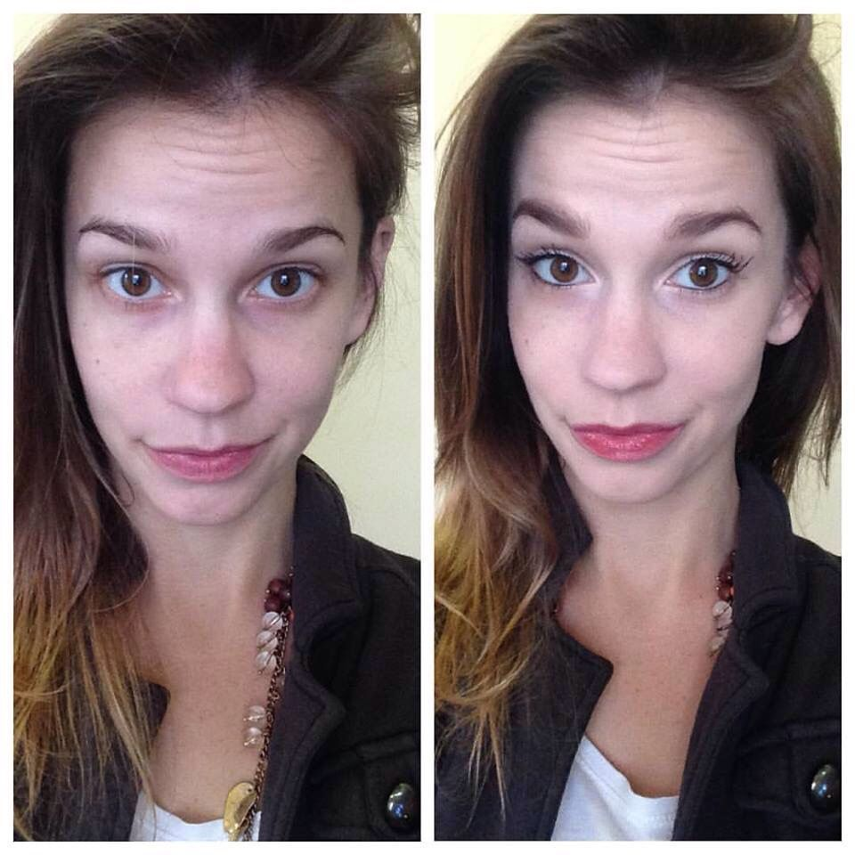 Before and after. Younique's liquid foundation has so much