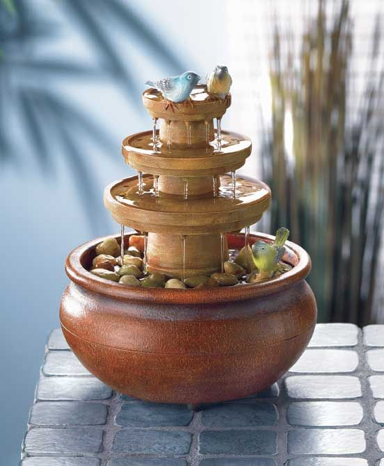 Http diy water fountains are for Homemade tabletop water fountain