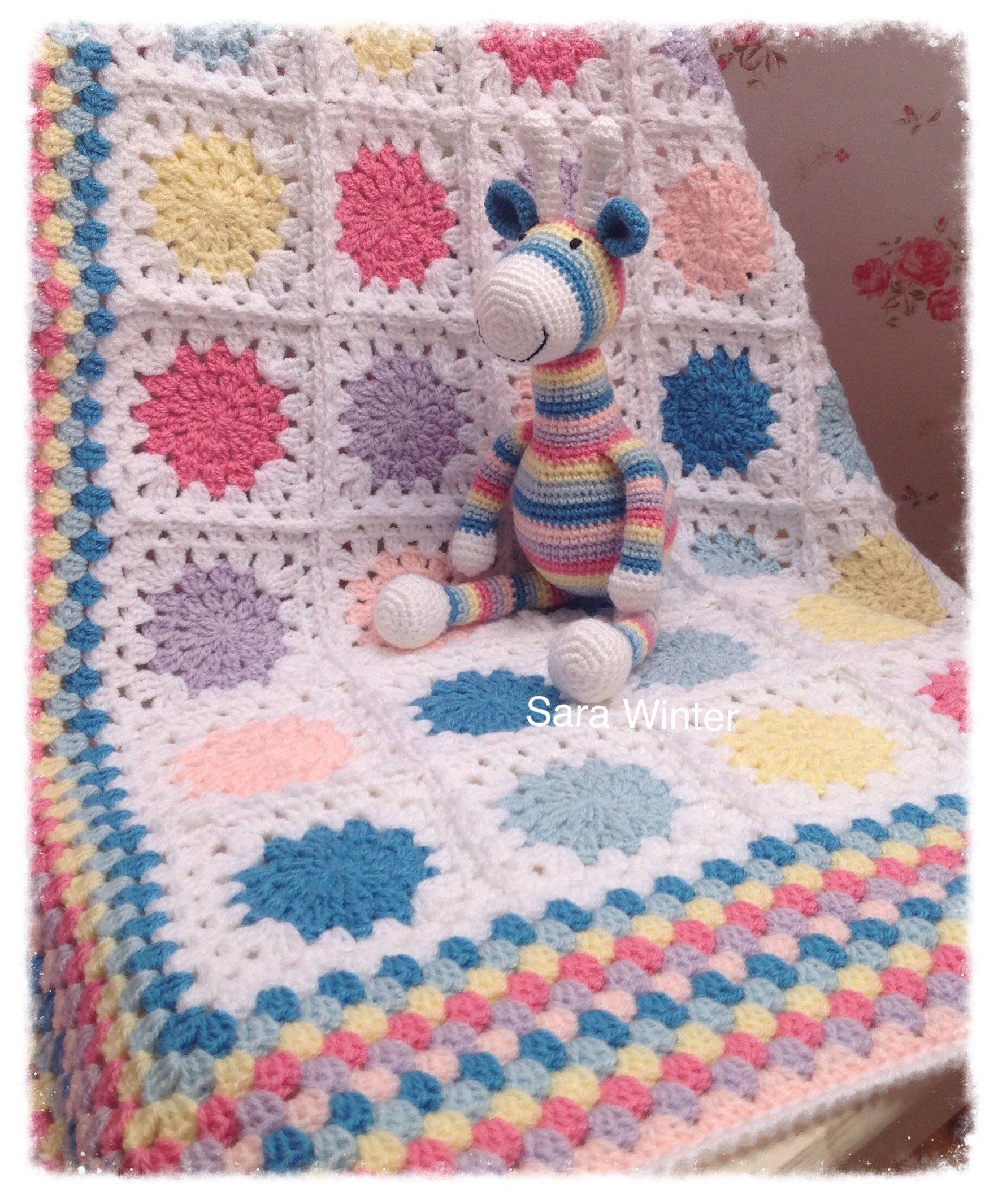 A personal favourite from my Etsy shop https://www.etsy.com/uk/listing/526721501/crochet-baby-blanket-and-amigurumi