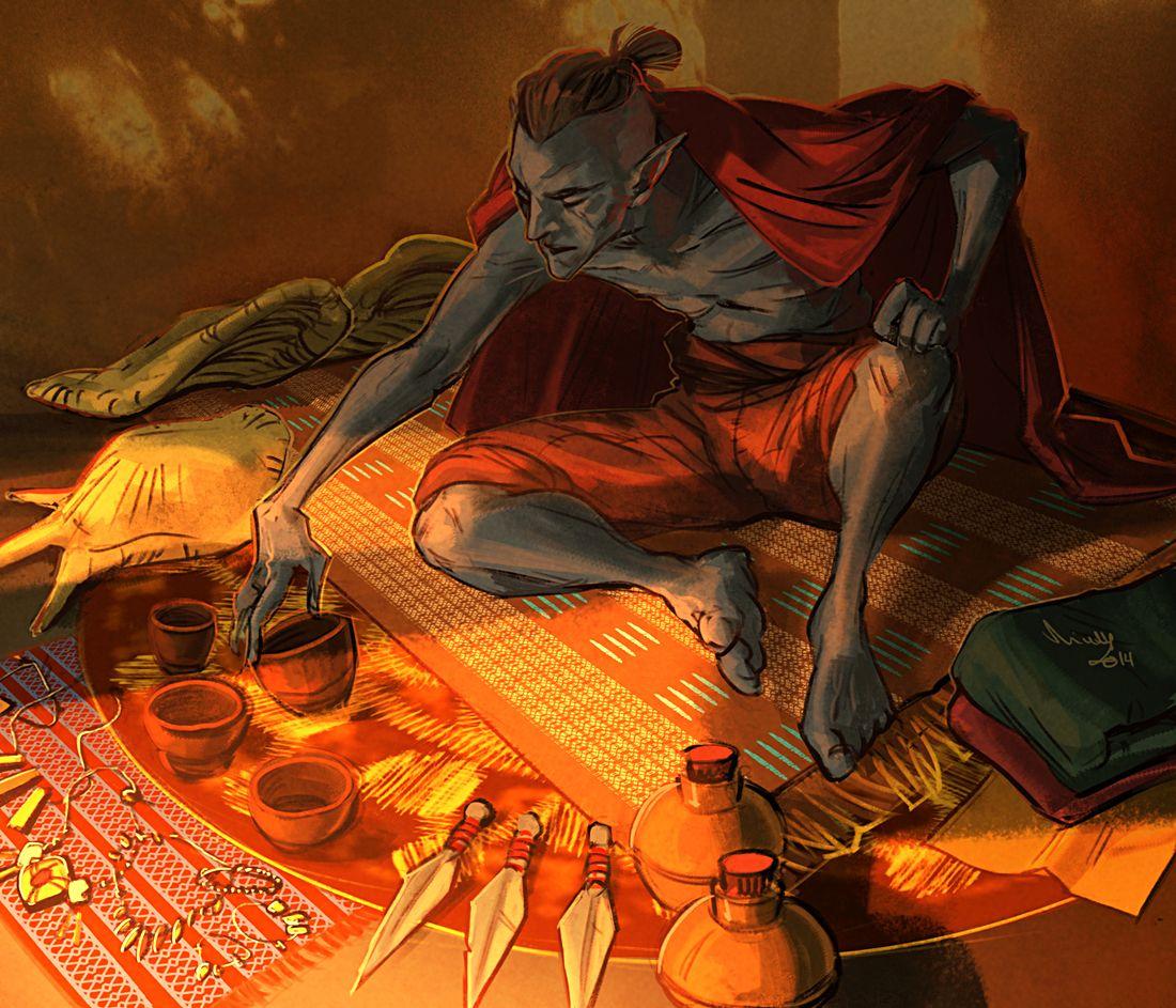 Dunmer Merchant By Theminttu Elf Market Not Our Art