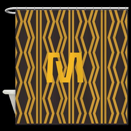 Cool Fun Yellow Monogram Shower Curtain By Technotext Cafepress