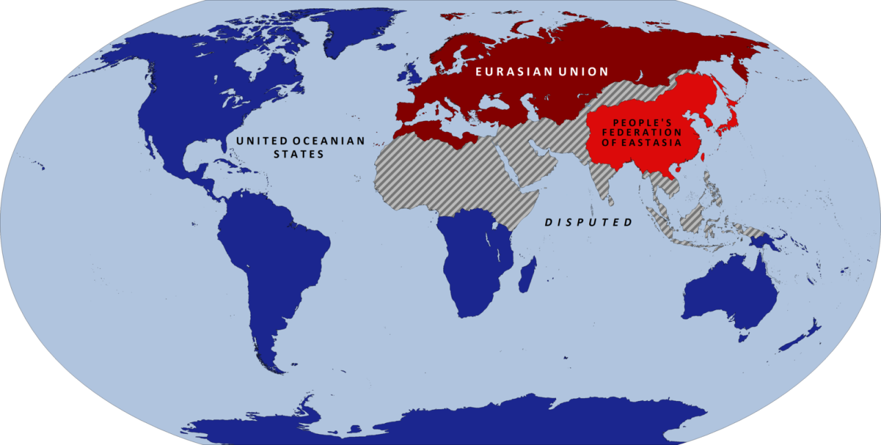 Map of George Orwell\'s 1984. | Fantasy world map, Map ...