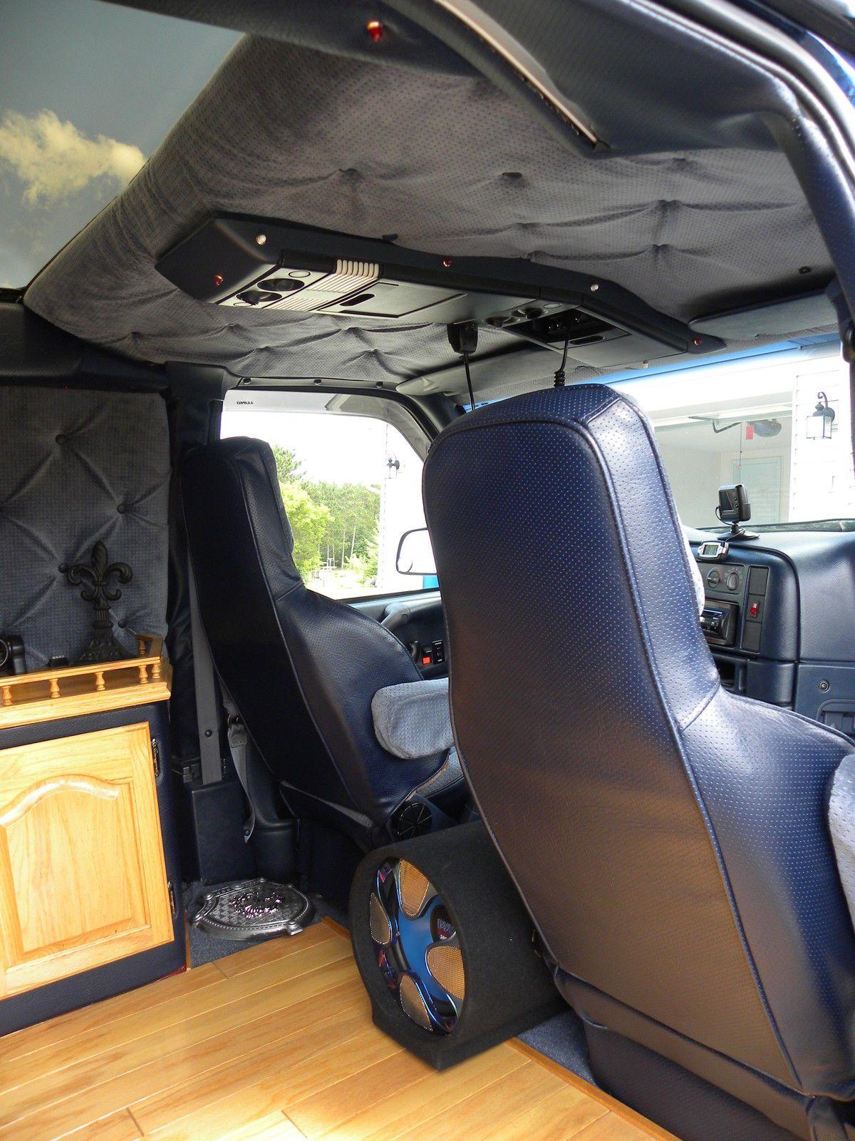 Love These Seats And Overhead Console Custom Van Interior Van