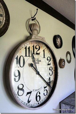 Grosse horloge effet montre gousset escalier d coration industrielle pinterest horloge for Montre decoration