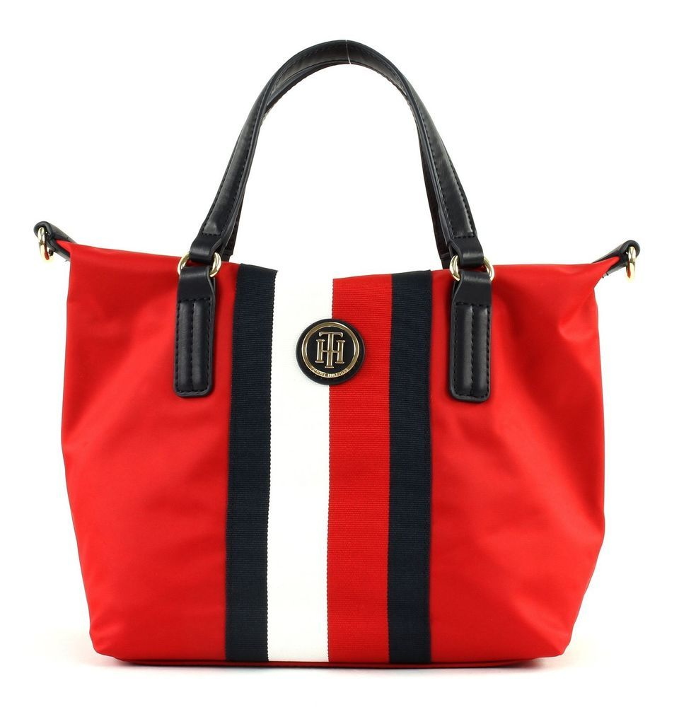 TOMMY HILFIGER Poppy Small Tote Corp Stripe Handtasche