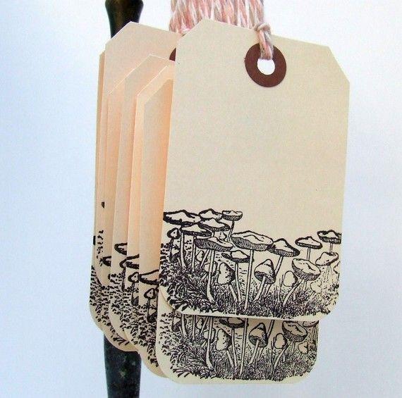 mushroom gift tags