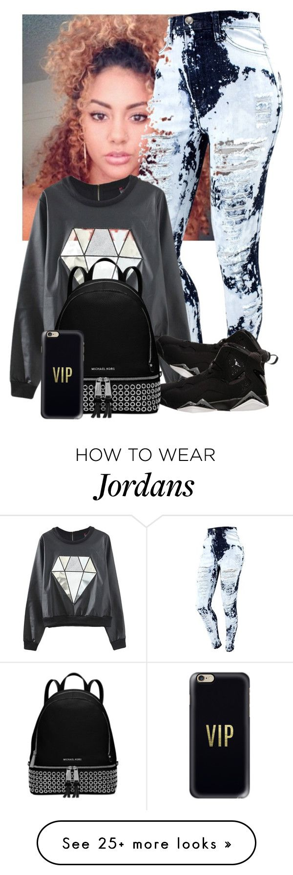 """""""All my 💎 shine cause they really 💎s"""" by purple-queen-101 on Polyvore featuring NIKE, Michael Kors and Casetify"""