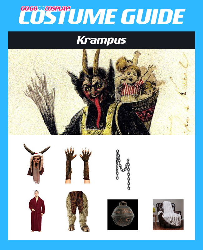 Authentic Krampus Costume with Mask & Robe For Christmas