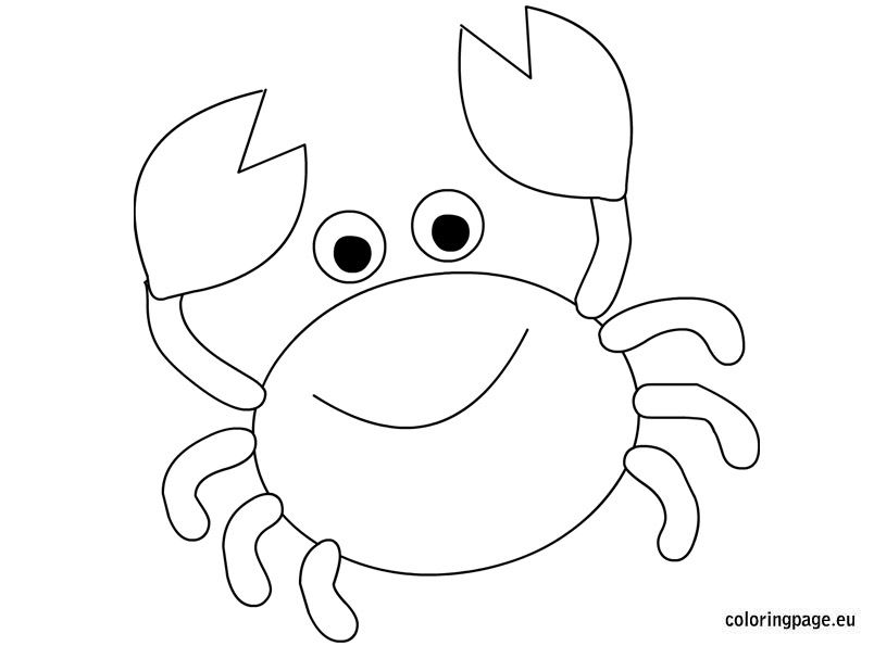 Cute Crab Coloring Page Moldes De Peixes Festa Fundo Do Mar Decoracao Peixe Para Colorir