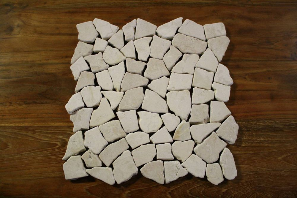 1 matte fliese bruch mosaik marmor naturstein stein wand boden restposten neu bathroom ideas Mosaik fliesen restposten