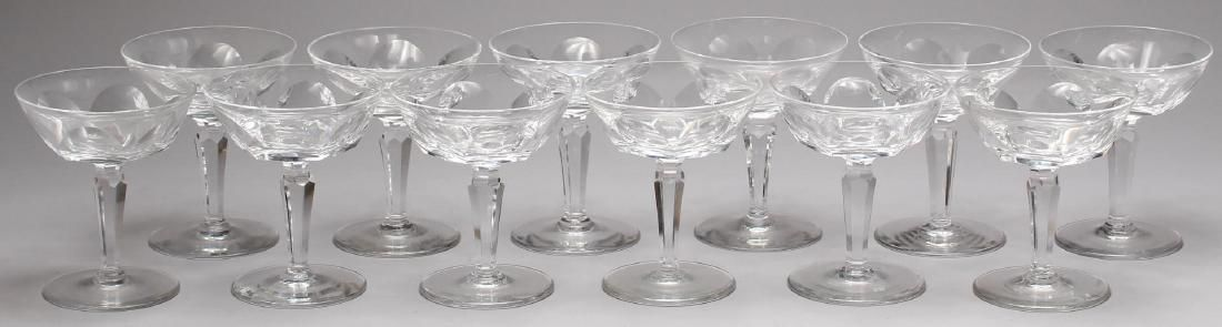 """12 Waterford """"Sheila"""" Crystal Champagne Coupes"""