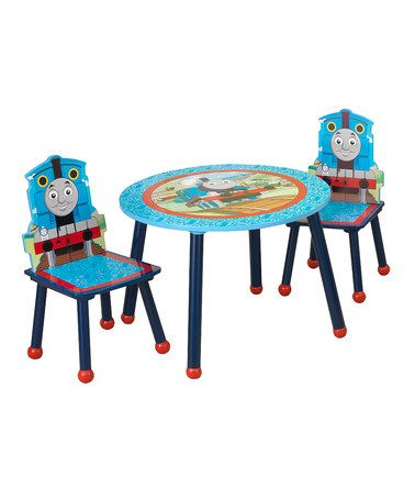Take a look at this Thomas Table & Chair Set by KidKraft on #zulily ...