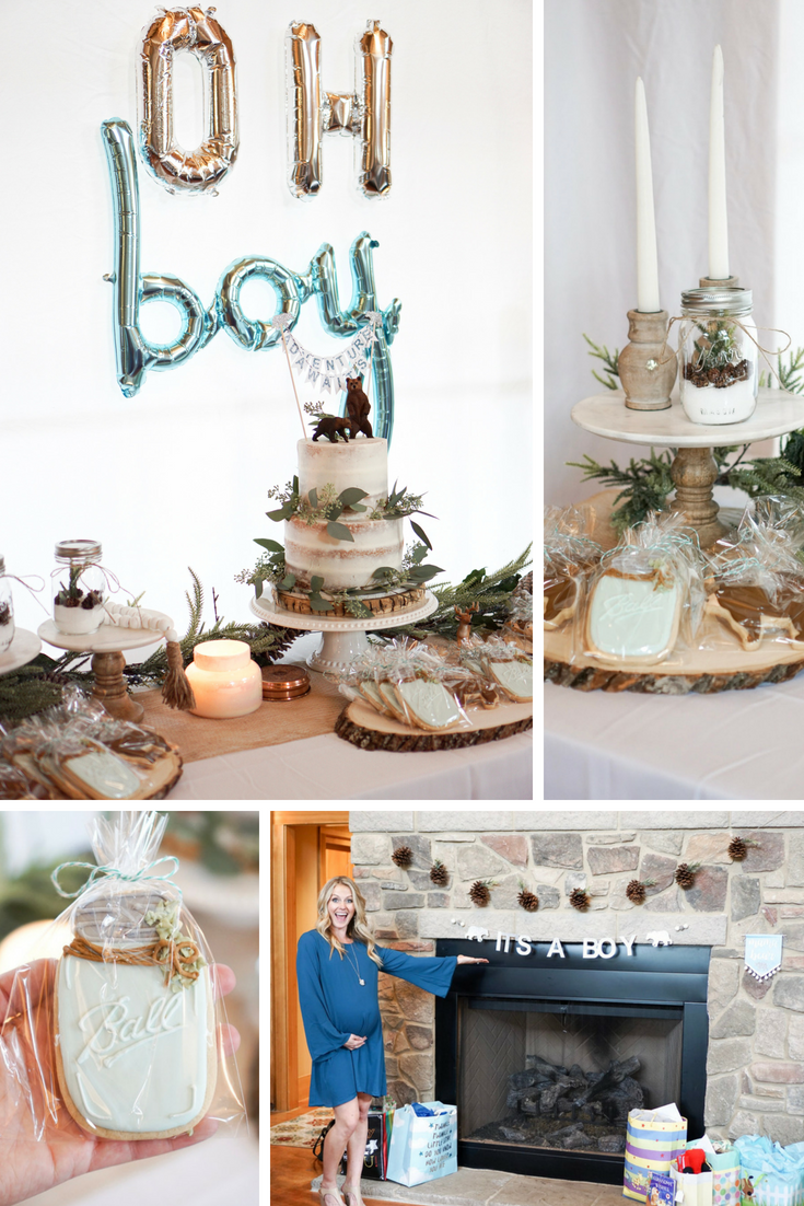 Adventure Awaits A Baby Boy Shower Adventure Baby Shower Boy Baby Shower Themes Baby Shower Woodland Theme