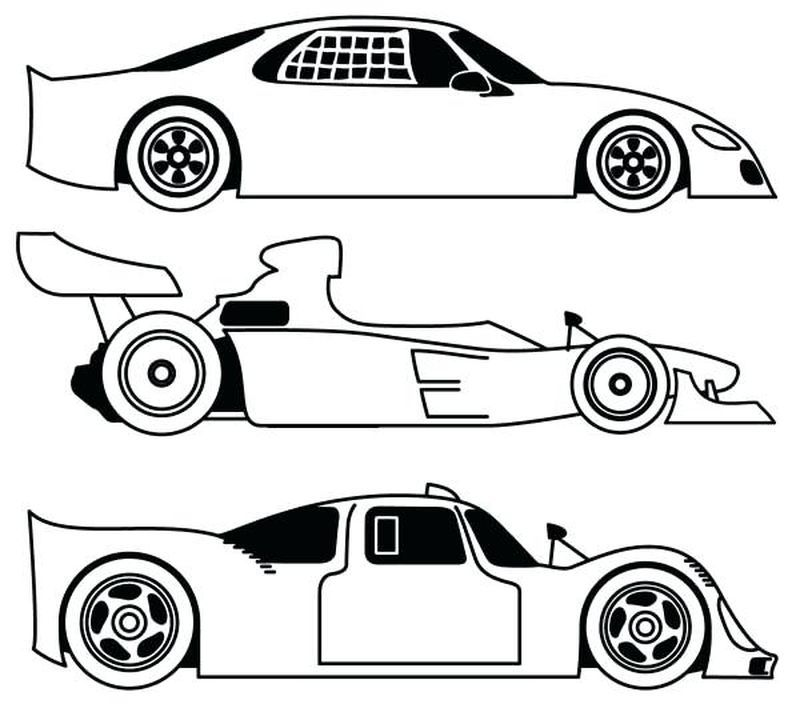 Free Printable Race Cars Coloring Pages Di 2020