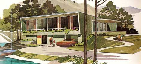 Mid Century Modern Vacation Home Plans Aframes House By