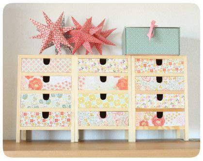 relooker une commode avec du masking tape organization. Black Bedroom Furniture Sets. Home Design Ideas