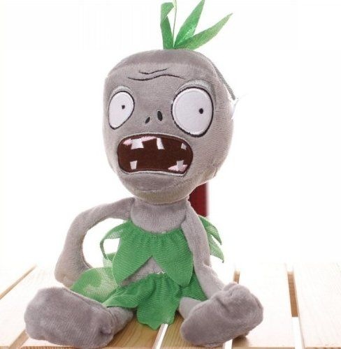 Plants vs Zombies Style Plush Toys Green Dress Zombies Doll New 26 cm @ niftywarehouse.com